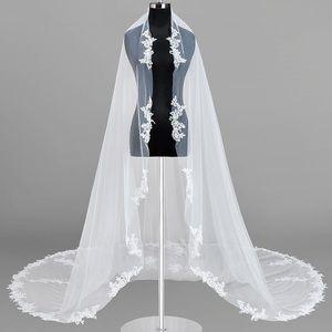 Azazie Diamond Floral Ivory Cathedral Veil w/ Comb